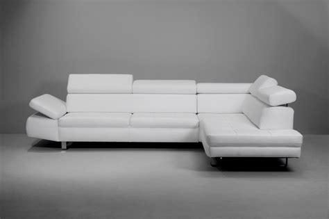 canape cuir blanc design canapé design 3 places bandibandi cuir blanc