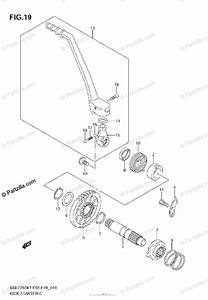 Suzuki Motorcycle 2007 Oem Parts Diagram For Kick Starter