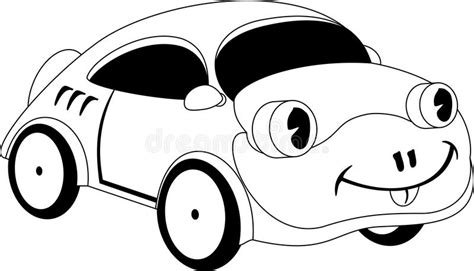 cartoon car black and white cartoon car stock vector illustration of sketch outline