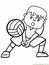 Volleyball Coloring Sports Clipart Printable Coloriage Imprimir Clip Retour Imagens Bing Basketball Colorir Ausmalbilder Playing Dessin Bestcoloringpagesforkids Cliparts Library Volleybal sketch template
