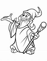 Wizard Coloring Pages Domain Stuff Mia sketch template
