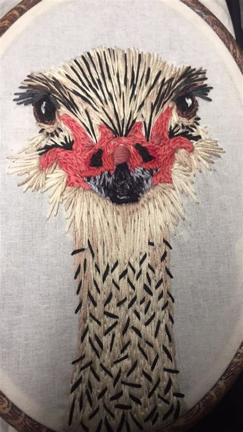 long birb image embroidery reddit