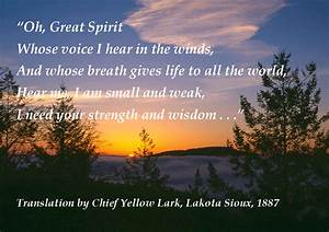 Carol Chapman- ... Sioux Chief Quotes