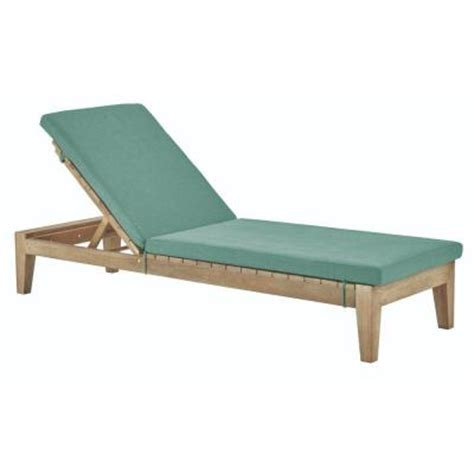 wood chaise lounge outdoor home decorators collection bermuda wood outdoor chaise