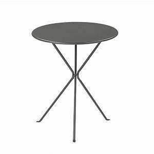 Table Exterieur Ronde : table de jardin ronde gueridon oasi by emu leroy merlin ~ Teatrodelosmanantiales.com Idées de Décoration