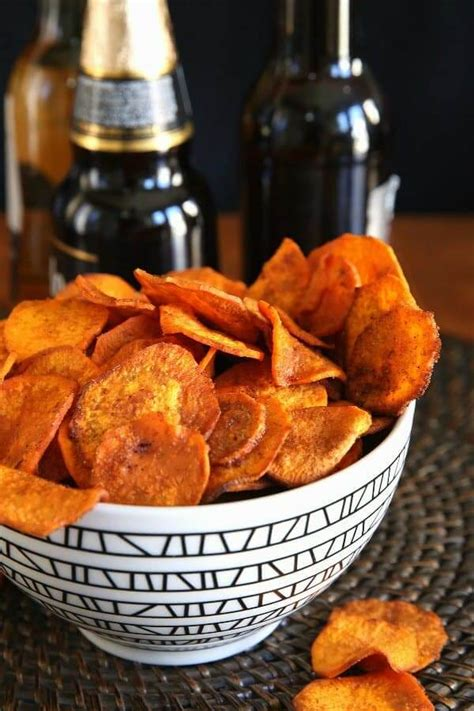 chips potato air sweet fryer recipes spicy vegan recipe fried potatoes baked fat oil fries bowl actually done they