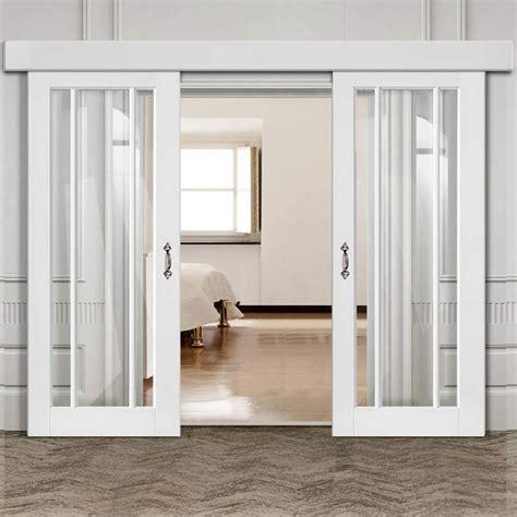 double sliding door wall track worcester  pane doors clear glas