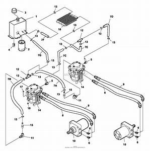Bunton  Bobcat  Ryan 742241c Pro Cat Z 33hp Gen W  61 Sd Parts Diagram For Hydraulics