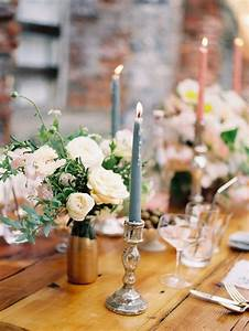 Wedding, Table, Decorations, With, Candles