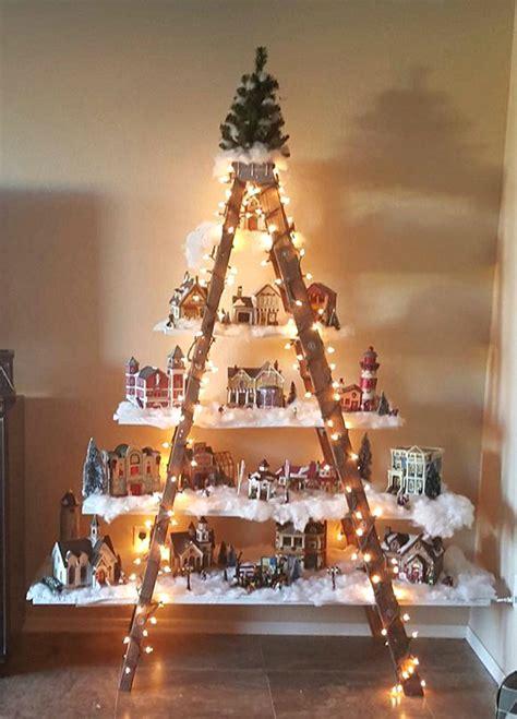 beautiful christmas ladder village christmas craft ideas