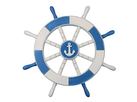 Sailboat Wheel Wall Decor by Buy Light Blue And White Decorative Ship Wheel With Anchor