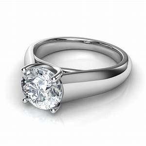 lucida wide band solitaire diamond engagement ring With wide band wedding rings