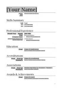 Resume Templates Professional Resume Template How To Write Stuff Org