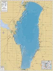 Lake Winnebago Wall Map