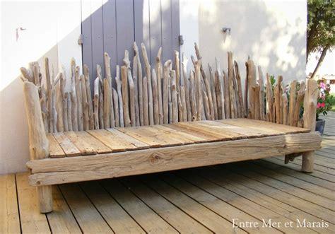 canap 233 s en bois flott 233 entre mer et marais cr 233 ations en bois flott 233
