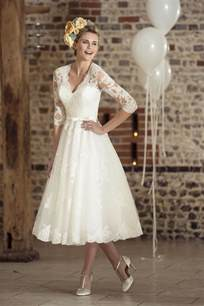 wedding dresses for 50 brides tea length wedding dresses 50 39 s wedding dress fairygothmother