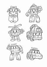 Poli Robocar Coloring Pages Printable Funny Coloriage Colouring Drawing Tv Imprimer Characters Gambar Books sketch template