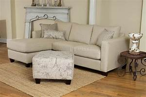 cream fabric modern reversible sectional sofa w foot stool With 6 foot sectional sofa