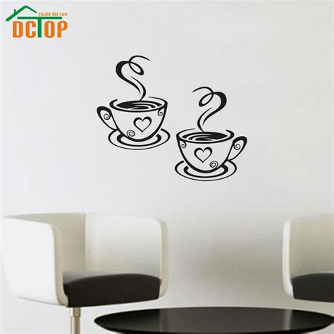 dctop coffee cups wall stickers room decoration