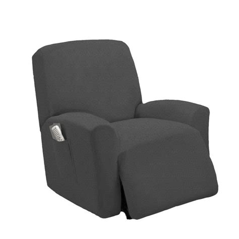 grey recliner slipcover stretch fit gray recliner slipcover chair slip cover