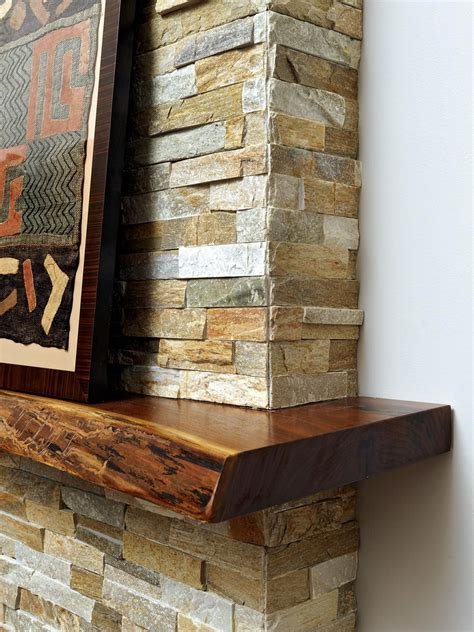 A live edge kitchen island in this contemporary home was