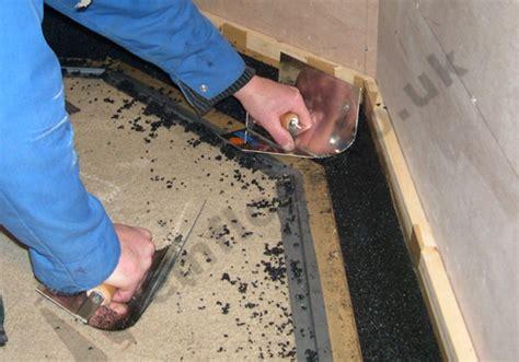 Fall In Shower Floor by In Situ Resin Terrazzo Black Shower Tray