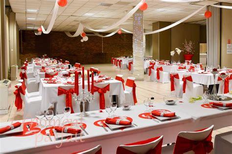decoration mariage rouge blanc