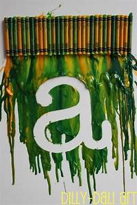 melted crayon letter art crafts pinterest initials With melting wax for letters