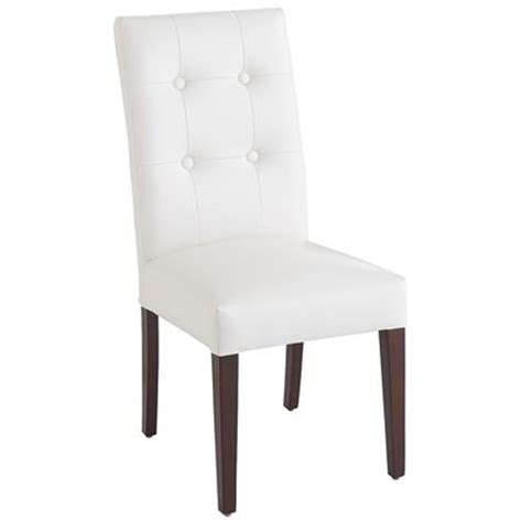 pier one parsons chair white dining chair pier 1 imports