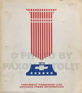 1973 Chevy Car Wiring Diagram Manual Reprint Impala
