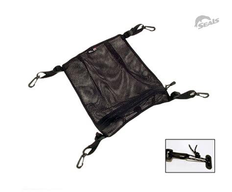 seals sprayskirts mesh deck bag for kayak or sup