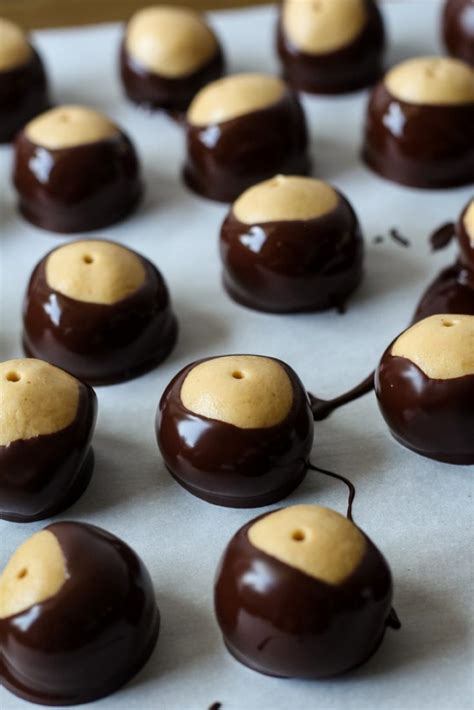 Buckeyes (Peanut Butter Balls) - Chocolate With Grace