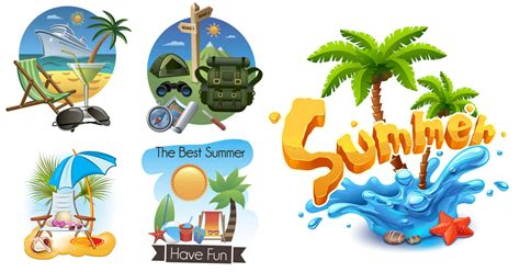 Vacation Clipart Summer Vacation Illustrations Templates In Vector Free