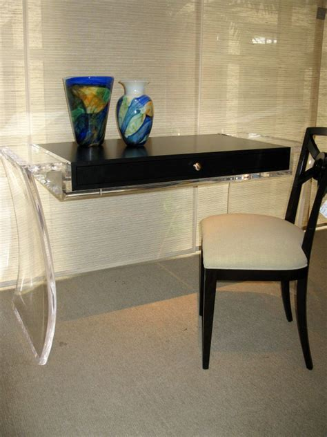 sleek acrylic computer desk designs  small home office