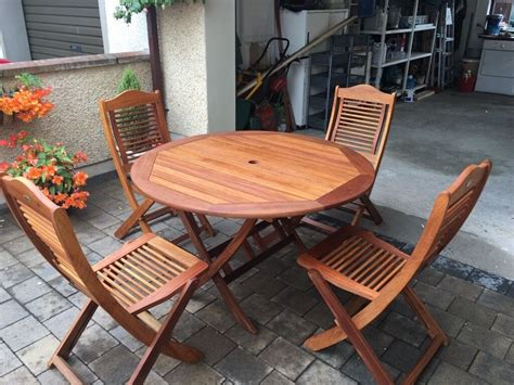 firman solid teak patio table chairs parasol