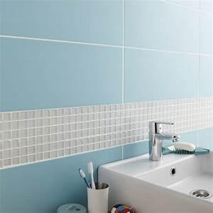 Salle De Bain Loft : fa ence mur bleu atoll n 5 loft x cm leroy ~ Dailycaller-alerts.com Idées de Décoration