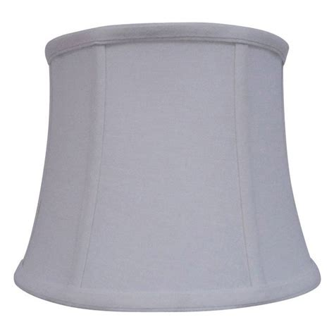 allen roth 7 5 in x 10 in white fabric drum l shade