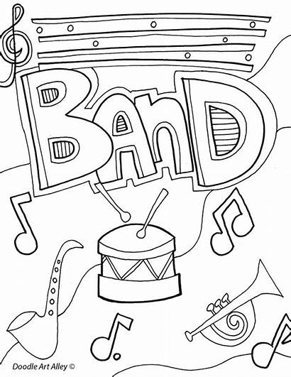 Coloring Pages Binder Subject Band Printable Sheets