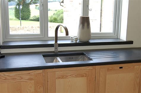 photographs of slate kitchen worktops work surfaces sink surrounds