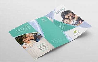 Brochure Fold Tri Template Counselling Service Photoshop