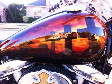 Christian Airbrushed Motorcycle Paint Scheme 4