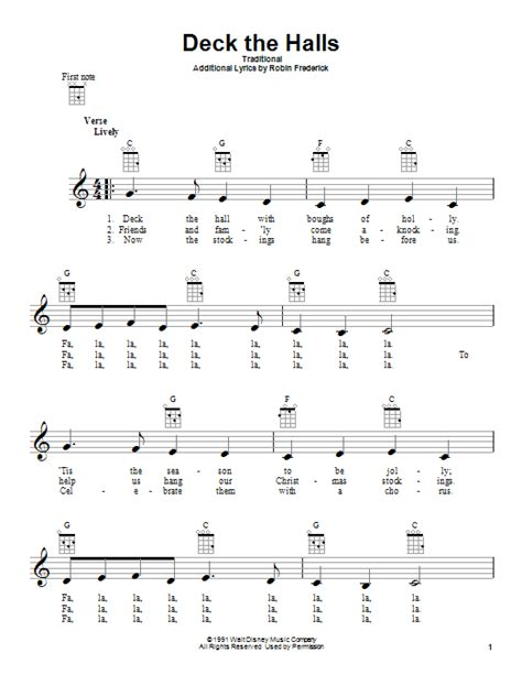 Deck The Halls Guitar Chords G by Deck The Halls By Traditional Ukulele Guitar Instructor