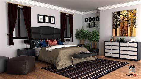 chambre 3d 3d design intérieur chambre a coucher rendu vray cs web