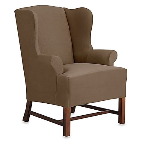wingback chair slipcover sure fit designer suede wingback chair slipcover bed