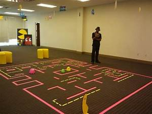 interactive pacman board game for arcade party, using ...