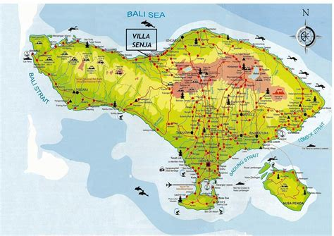 map  bali indonesia httptravelphototourscom
