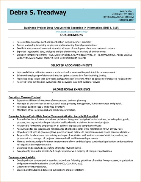 data analyst resume 501c3 requirements objective resume