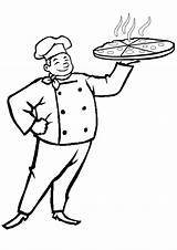 Pizza Baker Colouring Chef Coloring Sheet Josephine Cliparts Activities Template Kidspot sketch template