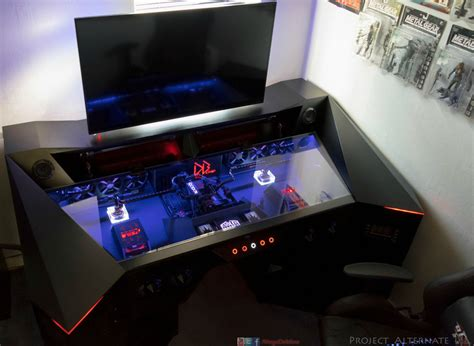 custom built gaming desk 9 amazing pc gaming battle stations