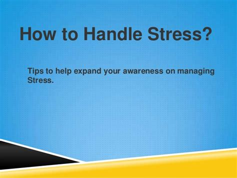 How To Handle Change by How To Handle Stress